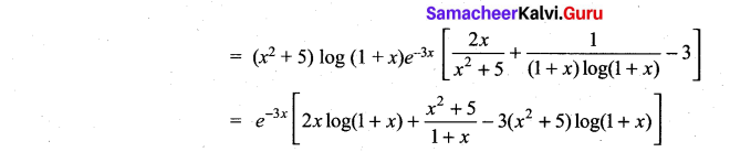 Samacheer Kalvi 11th Maths Solutions Chapter 10 Differentiability and Methods of Differentiation Ex 10.2 9