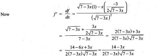 Samacheer Kalvi 11th Maths Solutions Chapter 10 Differentiability and Methods of Differentiation Ex 10.3 17