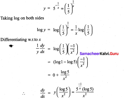 Samacheer Kalvi 11th Maths Solutions Chapter 10 Differentiability and Methods of Differentiation Ex 10.3 20