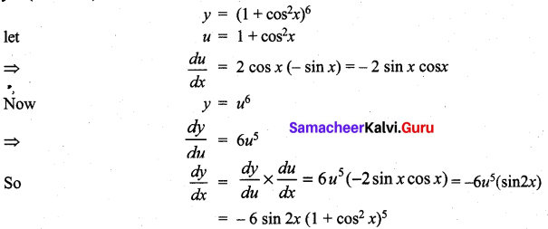 Samacheer Kalvi 11th Maths Solutions Chapter 10 Differentiability and Methods of Differentiation Ex 10.3 23