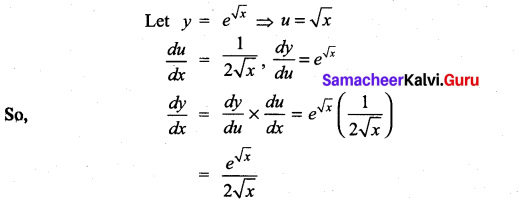 Samacheer Kalvi 11th Maths Solutions Chapter 10 Differentiability and Methods of Differentiation Ex 10.3 3