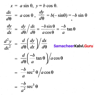 Samacheer Kalvi 11th Maths Solutions Chapter 10 Differentiability and Methods of Differentiation Ex 10.5 12
