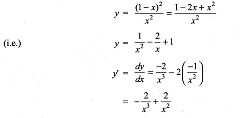 Samacheer Kalvi 11th Maths Solutions Chapter 10 Differentiability and Methods of Differentiation Ex 10.5 16