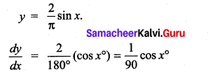 Samacheer Kalvi 11th Maths Solutions Chapter 10 Differentiability and Methods of Differentiation Ex 10.5 2