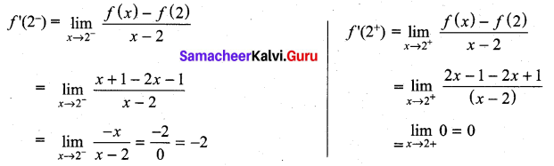 Samacheer Kalvi 11th Maths Solutions Chapter 10 Differentiability and Methods of Differentiation Ex 10.5 22