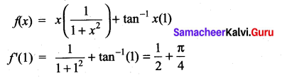 Samacheer Kalvi 11th Maths Solutions Chapter 10 Differentiability and Methods of Differentiation Ex 10.5 8