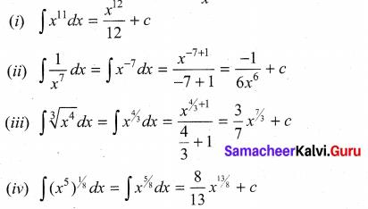 Samacheer Kalvi 11th Maths Solutions Chapter 11 Integral Calculus Ex 11.1 1