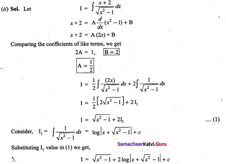 Samacheer Kalvi 11th Maths Solutions Chapter 11 Integral Calculus Ex 11.11 12