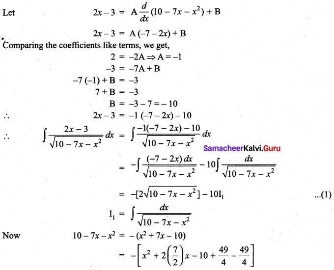 Samacheer Kalvi 11th Maths Solutions Chapter 11 Integral Calculus Ex 11.11 20