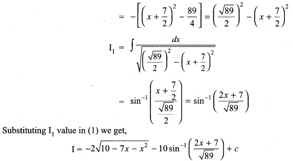 Samacheer Kalvi 11th Maths Solutions Chapter 11 Integral Calculus Ex 11.11 21