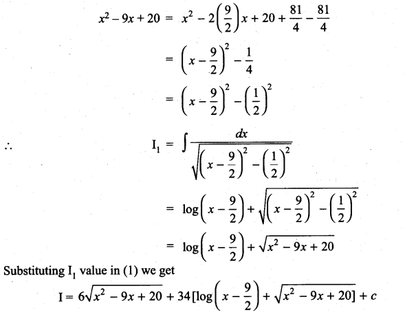 Samacheer Kalvi 11th Maths Solutions Chapter 11 Integral Calculus Ex 11.11 23