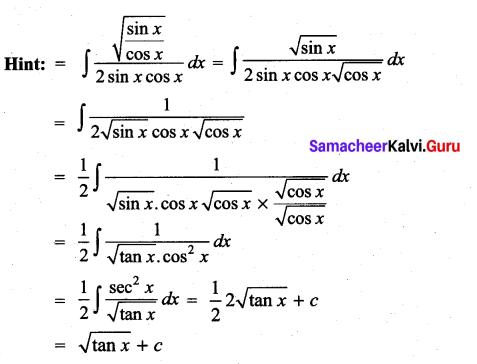 Samacheer Kalvi 11th Maths Solutions Chapter 11 Integral Calculus Ex 11.13 11