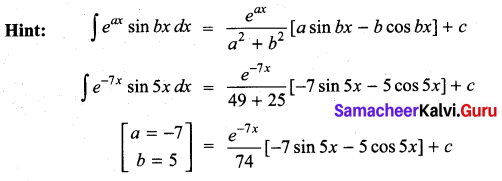 Samacheer Kalvi 11th Maths Solutions Chapter 11 Integral Calculus Ex 11.13 35