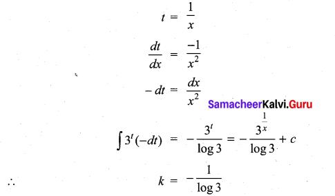 Samacheer Kalvi 11th Maths Solutions Chapter 11 Integral Calculus Ex 11.13 4