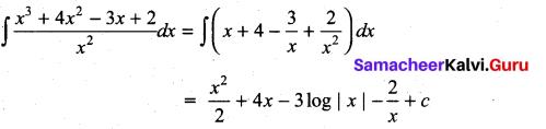 Samacheer Kalvi 11th Maths Solutions Chapter 11 Integral Calculus Ex 11.5 1