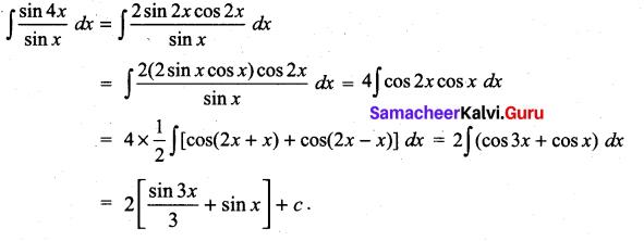 Samacheer Kalvi 11th Maths Solutions Chapter 11 Integral Calculus Ex 11.5 9