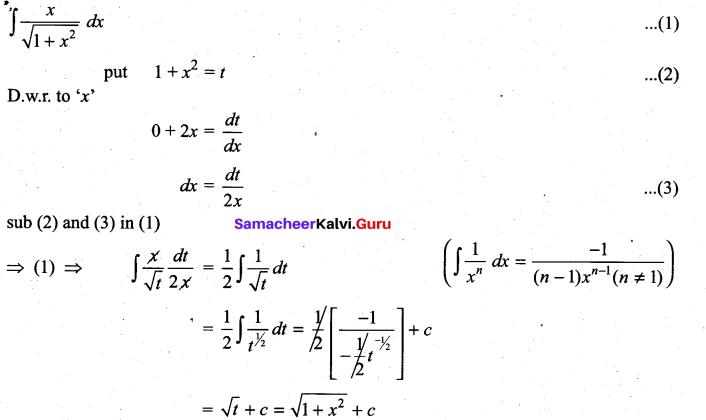 Samacheer Kalvi 11th Maths Solutions Chapter 11 Integral Calculus Ex 11.6 1