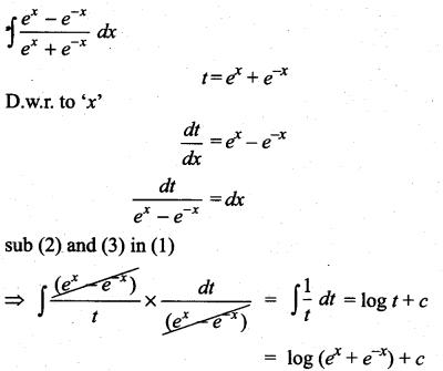 Samacheer Kalvi 11th Maths Solutions Chapter 11 Integral Calculus Ex 11.6 3