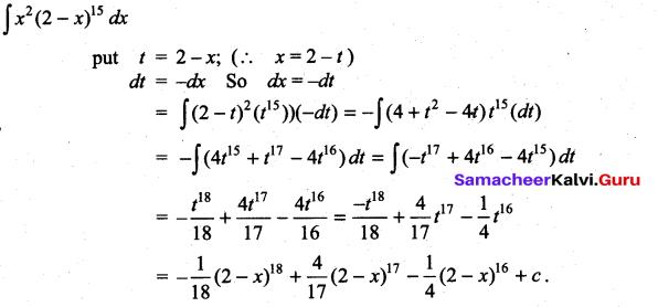 Samacheer Kalvi 11th Maths Solutions Chapter 11 Integral Calculus Ex 11.6 32