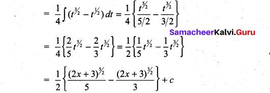 Samacheer Kalvi 11th Maths Solutions Chapter 11 Integral Calculus Ex 11.6 34