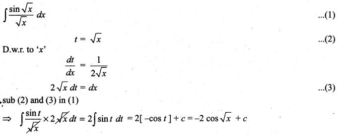 Samacheer Kalvi 11th Maths Solutions Chapter 11 Integral Calculus Ex 11.6 7