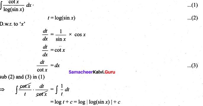 Samacheer Kalvi 11th Maths Solutions Chapter 11 Integral Calculus Ex 11.6 8