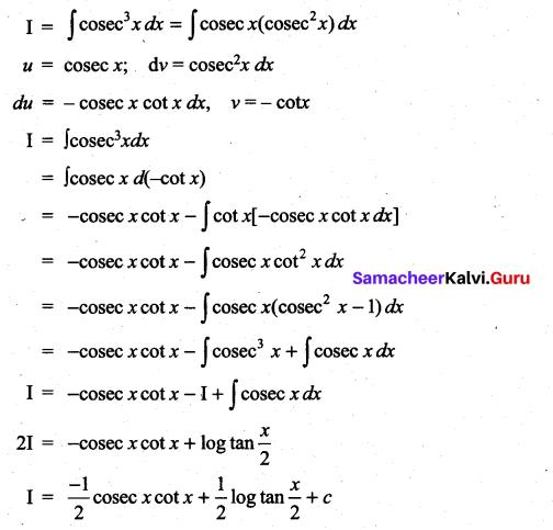 Samacheer Kalvi 11th Maths Solutions Chapter 11 Integral Calculus Ex 11.7 19