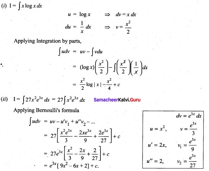 Samacheer Kalvi 11th Maths Solutions Chapter 11 Integral Calculus Ex 11.7 4