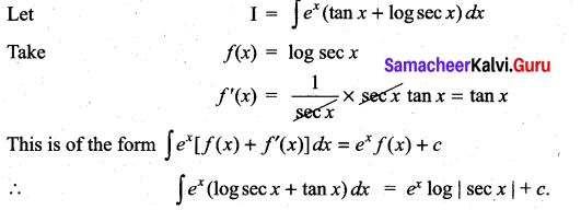 Samacheer Kalvi 11th Maths Solutions Chapter 11 Integral Calculus Ex 11.9 1