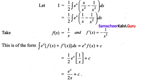 Samacheer Kalvi 11th Maths Solutions Chapter 11 Integral Calculus Ex 11.9 2