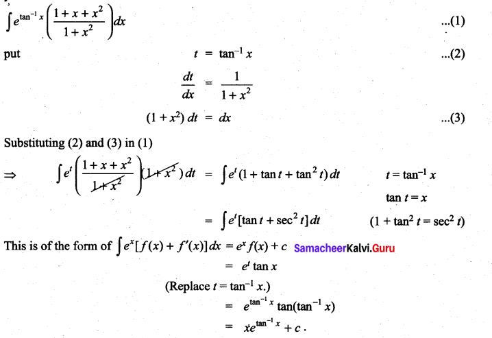 Samacheer Kalvi 11th Maths Solutions Chapter 11 Integral Calculus Ex 11.9 5