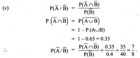 Samacheer Kalvi 11th Maths Solutions Chapter 12 Introduction to Probability Theory Ex 12.3 11