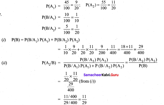 Samacheer Kalvi 11th Maths Solutions Chapter 12 Introduction to Probability Theory Ex 12.4 11