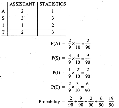 Samacheer Kalvi 11th Maths Solutions Chapter 12 Introduction to Probability Theory Ex 12.5 10