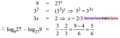 Samacheer Kalvi 11th Maths Solutions Chapter 2 Basic Algebra Ex 2.12 1