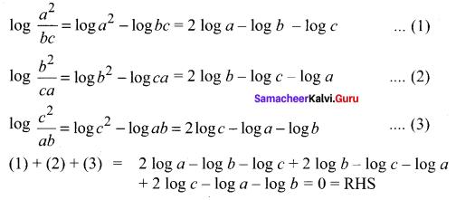 Samacheer Kalvi 11th Maths Solutions Chapter 2 Basic Algebra Ex 2.12 10