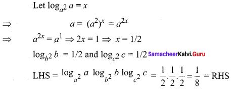 Samacheer Kalvi 11th Maths Solutions Chapter 2 Basic Algebra Ex 2.12 14
