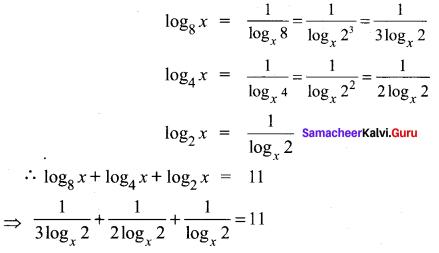 Samacheer Kalvi 11th Maths Solutions Chapter 2 Basic Algebra Ex 2.12 2
