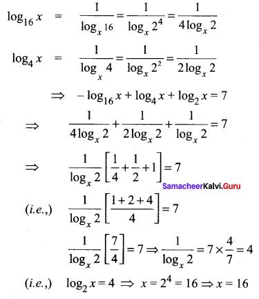 Samacheer Kalvi 11th Maths Solutions Chapter 2 Basic Algebra Ex 2.12 23