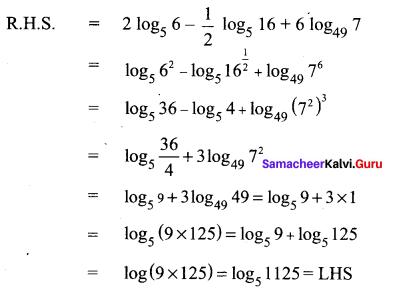 Samacheer Kalvi 11th Maths Solutions Chapter 2 Basic Algebra Ex 2.12 25