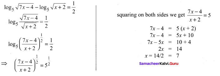 Samacheer Kalvi 11th Maths Solutions Chapter 2 Basic Algebra Ex 2.12 27