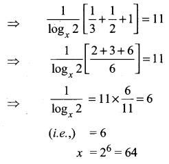 Samacheer Kalvi 11th Maths Solutions Chapter 2 Basic Algebra Ex 2.12 3