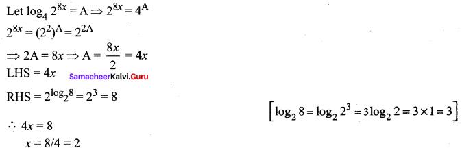 Samacheer Kalvi 11th Maths Solutions Chapter 2 Basic Algebra Ex 2.12 5