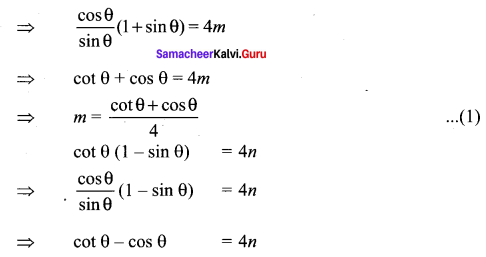 11th Samacheer Maths Solutions Chapter 3 Trigonometry Ex 3.1