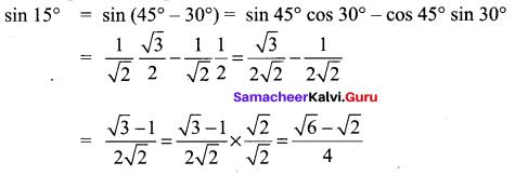 Samacheer Kalvi 11th Maths Book Solutions Chapter 3 Trigonometry Ex 3.4