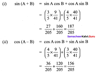 Samacheer Kalvi 11 Maths Solutions Chapter 3 Trigonometry Ex 3.4