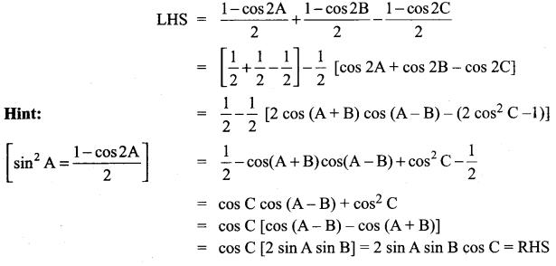 Samacheer Kalvi 11th Maths Solutions Chapter 3 Trigonometry Ex 3.7 7