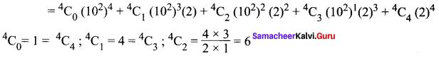 Ex 5.1 Class 11 Samacheer Kalvi Maths Solutions Chapter 5 Binomial Theorem, Sequences And Series