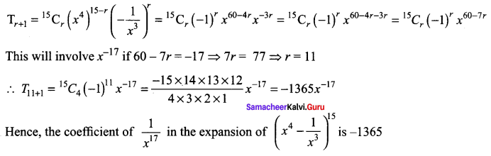 Samacheer Kalvi 11th Maths Solutions Chapter 5 Binomial Theorem, Sequences and Series Ex 5.1 166