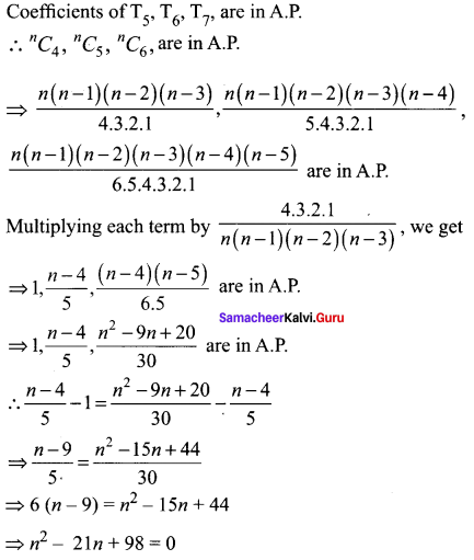 Samacheer Kalvi 11th Maths Solutions Chapter 5 Binomial Theorem, Sequences and Series Ex 5.1 52